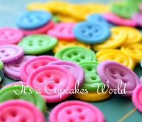 36 BUTTON DOLL CAKE TOPPER
